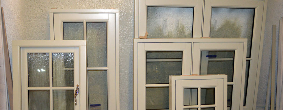 Selection of wooden windows with factory finish